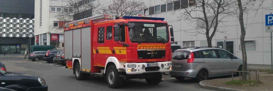Brandschutzübung im ibis Dresden Zentrum